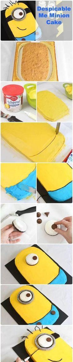 Minion cake! Looks easy enough;)