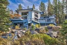 Featuring a 30-foot pier, a private swimming area and an incredible deck, this Lake Tahoe home is a dream come true for the family that loves water sports and outdoor life.