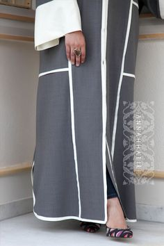 light grey abaya