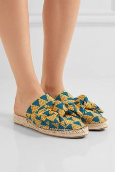 Sole measures approximately 15mm/ 0.5 inches Teal and yellow canvas  Slip on