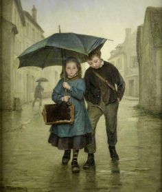 Pierre-Edouard Frere - Going to school