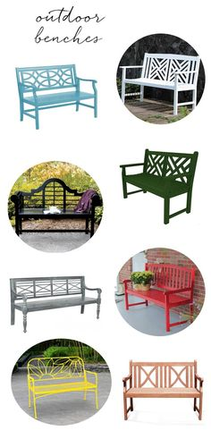 Outdoor benches @centsationalgrl