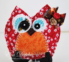 Samantha Walker's Imaginary World: Fabric Owl Tutorial by Eva Dobilas