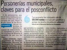 [Prensa - EL TIEMPO]  Personerías Municipales claves para el postconflicto [Impreso]