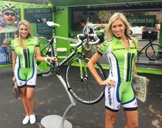 Kelly Han and Cinnamon as Cannondale Liquigas Girls yeah here we come!!