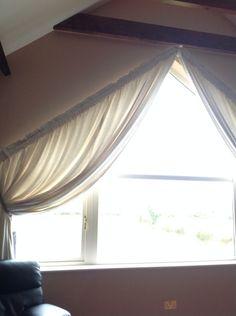 Curtains On Awkward Triangular Window