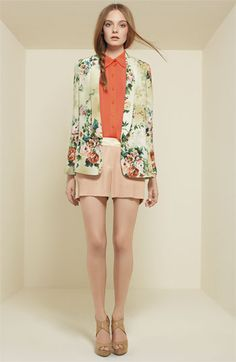 I'm not into the floral jeans things, but I would TOTALLY do a floral jacket with skinny jeans! T.D.F.!
