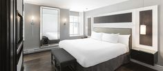 LEMAYMICHAUD | INTERIOR DESIGN | ARCHITECTURE | QUEBEC | Hotel Manoir Victoria Architecture, Quebec, Victoria, Interior Design, Bed, Furniture, Home Decor, The Mansion, Arquitetura