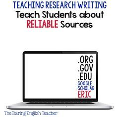 The Daring English Teacher: Teaching the Research Paper Part 1: Introducing the Research Paper and Preparing Students for the Assignment