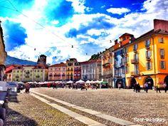 Piazza Grande, Locarno, Ticino, Switzerland *** to read more about the area visit jump-on-board.com