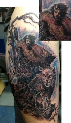"Robb Stark and Direwolf | Community Post: 31 Incredible ""Game Of Thrones"" Tattoos"