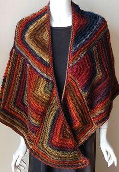 Mochi Plus Mitered Shawl - Crystal Palace Yarns - free knit shawl pattern