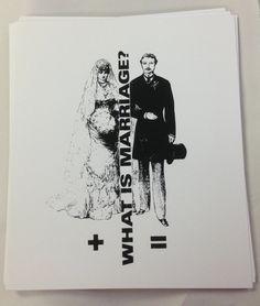What is Marriage 10 x 12 Silk Screen print in Black. #marriage #silkscreen #design