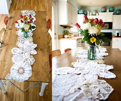 Table runner for dessert table