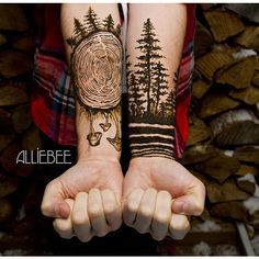 39 Awesome Tattoos For Anyone Who's Happiest Up A Mountain - Mpora ❤ liked on Polyvore featuring tattoos