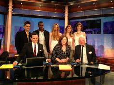 Mario and the #MarioMakeMeAModel Finalists at the WGN Morning Show Behind the Scenes - Mario Tricoci #byMario