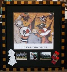 Custom framing for Kentucky Derby!  One of my all time favorites!