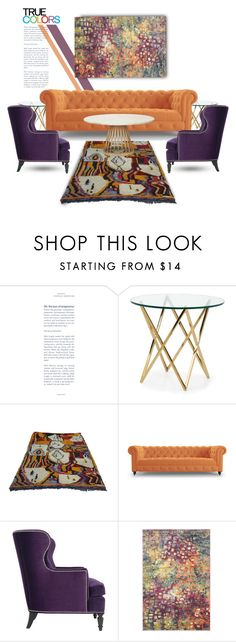 """Eclectic Style"" by youaresofashion on Polyvore featuring interior, interiors, interior design, home, home decor, interior decorating, Joybird Furniture, Safavieh, Tom Dixon and colorchallenge"