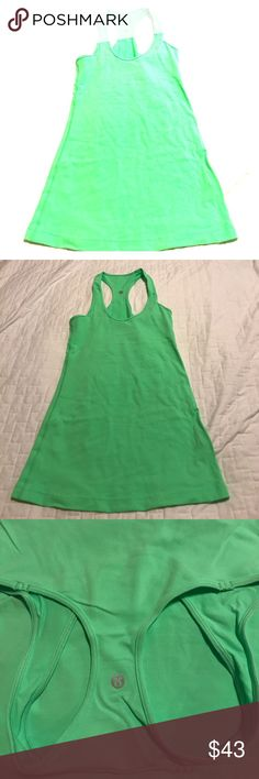 Lululemon Cool Racerback Tank Top Size 4 Cool Racerback Tank Top Size 4 in A Cool Fluorescent Lime Green .. Worn 2 Times Only!!! lululemon athletica Tops Tank Tops