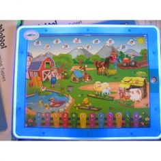 WolVol Childrens Farm Tablet, Touch-Screen Lights and Sound (9in*7in) - Great Gift Idea for Small Kids  price $14.94