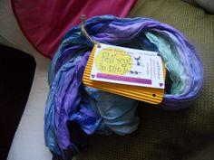 sciarpa dipinta a mano di puro lino con poesia - handpainted pure linen scarf with poem