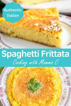 You'll love this Leftover Spaghetti Frittata! It's a delicious spaghetti pie made with eggs, Pecorino Romano and Parmesan! It's so good, you'll want to cook fresh spaghetti just to make it! Spaghetti Pie Recipes, Vegetarian Spaghetti, Baked Spaghetti, Easy Pie Recipes, Entree Recipes, Cooking Recipes, Dinner Recipes, Yummy Recipes, Vegetarian Recipes