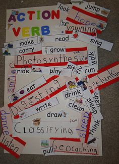Action Verbs Adorable Action Words  Speech Therapy  Verbs  Pinterest  Language Arts .