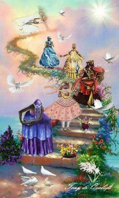 African Mythology, African Goddess, Oshun Goddess, Goddess Art, Black Girl Art, Black Women Art, Yemaya Orisha, Yoruba Orishas, Yoruba Religion