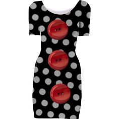 Buttoned Up Dress from Print All Over Me