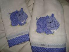 Toalhas fralda de Hipopótamo!! Eles são graciosos!!!