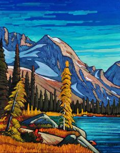 Mountain Lakeside, by Nicholas Bott