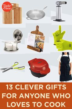 13 Clever Gifts for Anyone Who Loves to Cook Amazon Christmas Gifts, 25 Days Of Christmas, Gifts For Cooks, Food Gifts, Home Chef, Taste Of Home, Food Festival, Fun Ideas, Cheer