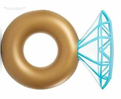 Swimming Pool Giant Diamond Ring Inflatable Summer Beach Float Water Toy