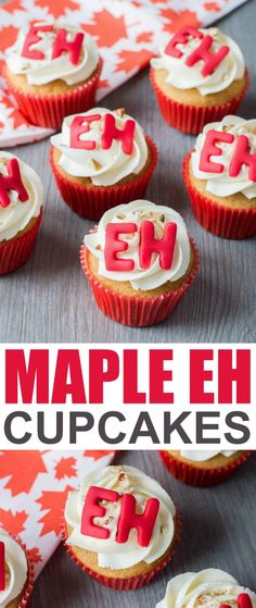 Lower Excess Fat Rooster Recipes That Basically Prime These Maple Cupcakes Adorned With Fondant Eh's Are The Perfect Canada Day Weekend Treat. Observe With Family And Friends And These Adorable Canada Day Cupcakes Easy Desserts, Delicious Desserts, Dessert Recipes, Yummy Food, Sweet Desserts, Maple Cupcakes, Yummy Cupcakes, Low Fat Chicken Recipes, Birthday Party Desserts