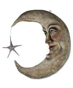 Crescent Moon Large Paper Mache