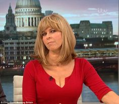 GOOD MORNING BRITAIN viewers flocked to social media after Kate Garraway showcased her ample cleavage in a plunging red dress today. Kate Galloway, Stunning Girls, Beautiful Women, Beautiful People, Good Morning Britain, Tv Girls, Holly Willoughby, Sexy Older Women, Sexy Women