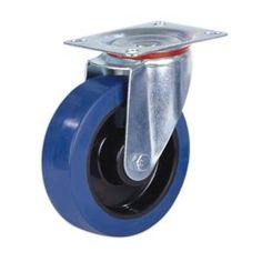 Blue Wheels Lenkrolle mit Feststeller 100 mm Elastik