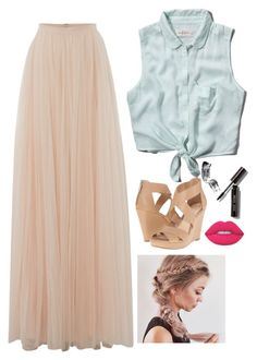 """""""Tulle Maxi"""" by kayladaas on Polyvore featuring Needle & Thread, Abercrombie & Fitch, Jessica Simpson, Bobbi Brown Cosmetics and Lime Crime"""