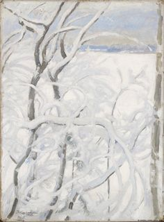 Talvinen puu, 1923 North Europe, Shades Of White, Helene Schjerfbeck, Artsy, Snow, Modernism, Oil Paintings, Acrylics, Finland