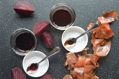 Homemade Natural Food Dyes - easy 'How-To' using beets and onion skins.