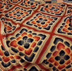 Crochet Patterns: Free Crochet Pattern Of Granny Square Afghan