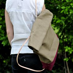 mochila de lona y suela / canvas backpack
