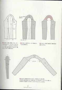 Album Archive - more dress pattern design Japanese Sewing Patterns, Dress Sewing Patterns, Clothing Patterns, Doily Patterns, Pattern Making Books, Sewing Sleeves, Pola Lengan, Modelista, Pattern Cutting