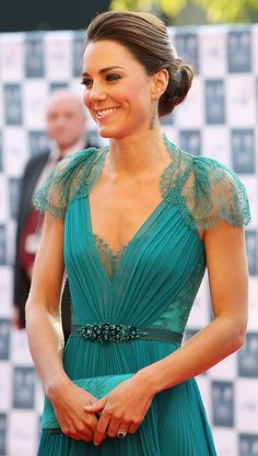 Duchess Kate wearing a lovely updo :)