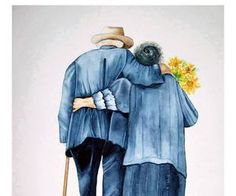 Find images and videos about love, couple and iloveee u 4 everrrrrr on We Heart It - the app to get lost in what you love. Couple Painting, Couple Art, Couple Drawings, Art Drawings Sketches, Art Des Gens, Romantic Paintings, Old Couples, Art Impressions, Love Illustration