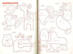 Japanese felt animal patterns. - CITY GUIDES FOR CRAFTSTERS