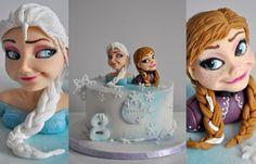 Elsa and Anna - Cake by CakesVIZ