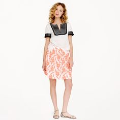 """FINAL PRICE! ❤️ J.Crew Embroidered Floral Skirt Sourced from a top-quality mill in Italy, the intricately embroidered fabric used to craft this summery midi is as showstopping as it is wearable. Our designer worked closely with the mill to enlarge the scale of the textured floral motif and color it a shocking-pink hue for a winning warm-weather combo. Cotton/poly. Sits above waist. 18 1/2"""" long. Falls above knee. Back zip with hook-and-eye closure. On-seam pockets. Lined. In perfect…"""