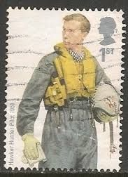 British Stamp 2008 - RAF Uniforms Hawker Hunter Pilot 1951