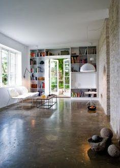 Scandinavian Retreat Danish Country Home Cement Floor Finish Love This